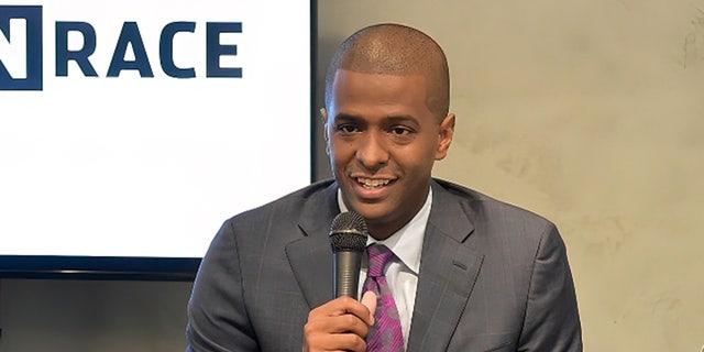 CNN commentator Bakari Sellers speaks in New York City, May 4, 2017. (Getty Images)