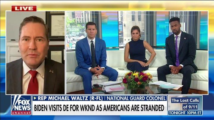 Rep. Waltz rips Biden for leaving Americans, allies in Afghanistan: 'Unforgiveable, unconscionable'