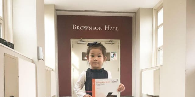 Brigitte Xie, 4, won't be able to perform at Carnegie Hall this year due to current coronavirus vaccine requirements that are required for all performers. There are no vaccines available for children under the age of 12 at this time.