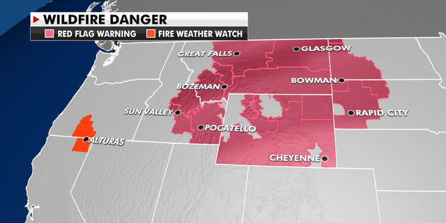 Current wildfire danger in the western U.S.
