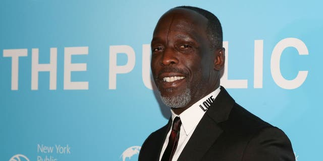 """Michael K Williams arrives for the premiere of """"The Public"""" at the New York Public Library in New York, U.S., April 1, 2019."""