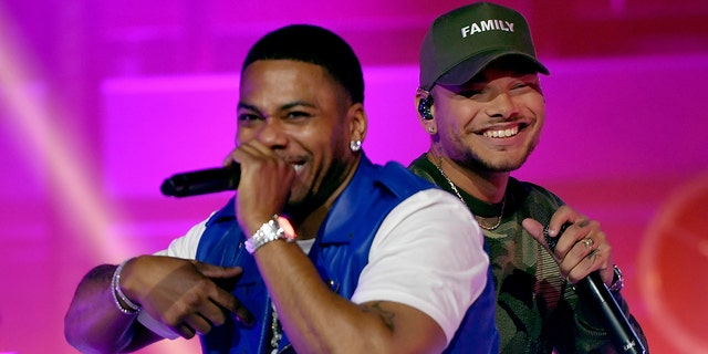 Kane Brown, right, is featured on Nelly's new 'country-influenced' album, 'Heartland.'