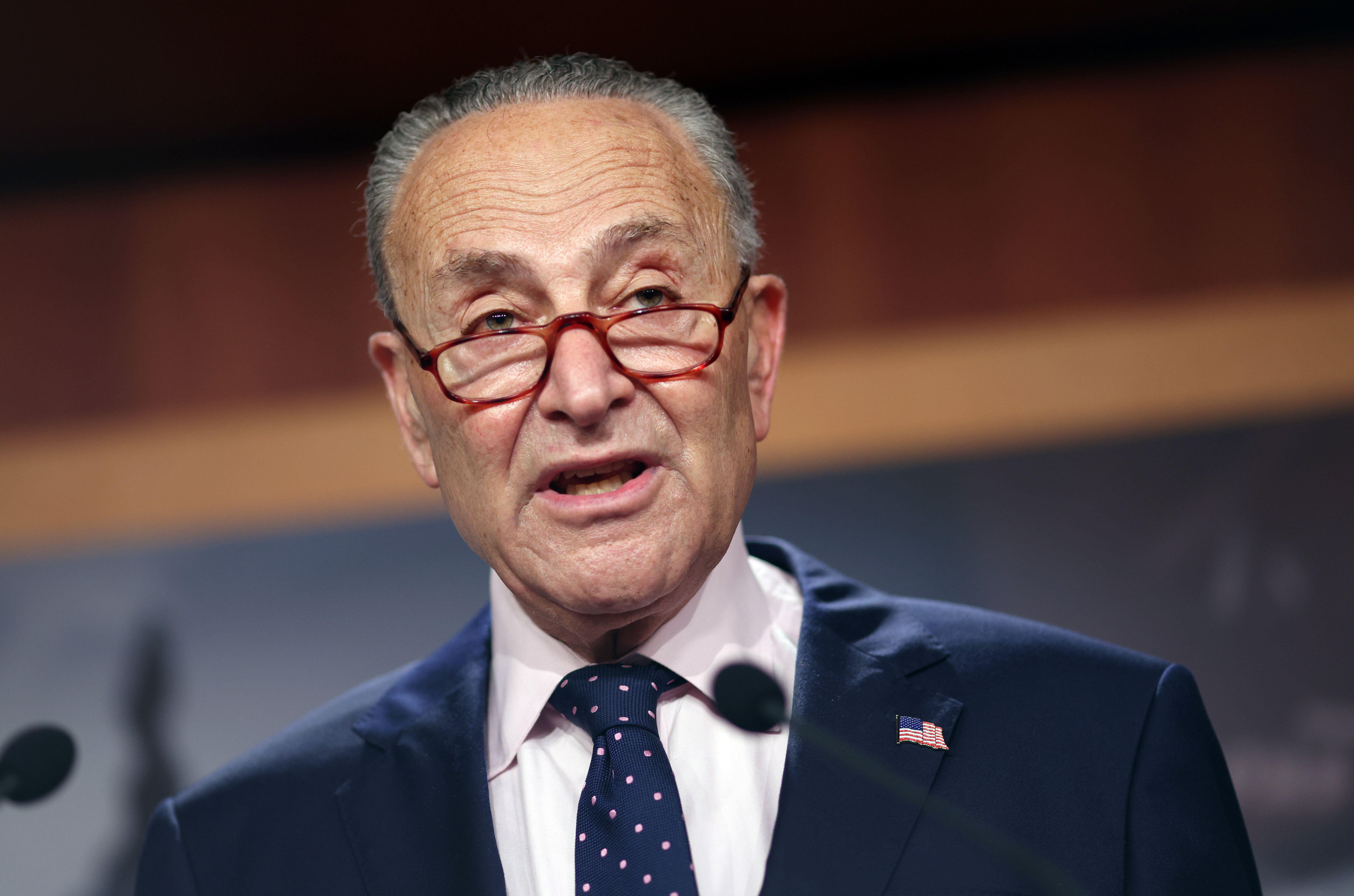 "Senate Majority Leader Charles Schumer (D-N.Y.) says it's ""full speed ahead"" on the Democrats' $3.5 trillion ""human infrastru"