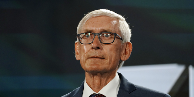 Wisconsin Governor Tony Evers awaits to address the virtual Democratic National Convention, at the Wisconsin Center on August 19, 2020 in Milwaukee, Wisconsin. (Photo by Melina Mara - Pool/Getty Images)