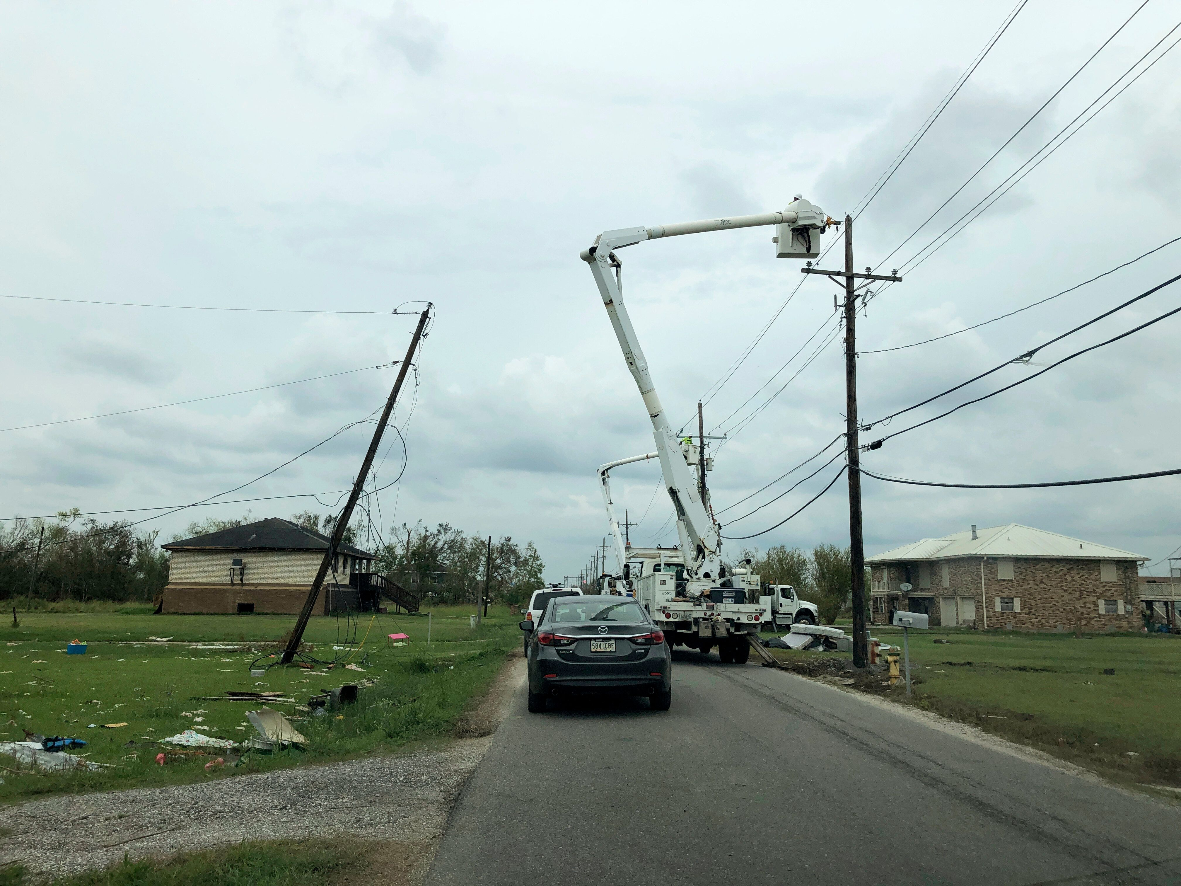 Ten days after Hurricane Ida hit Louisiana, many remained without electricity.
