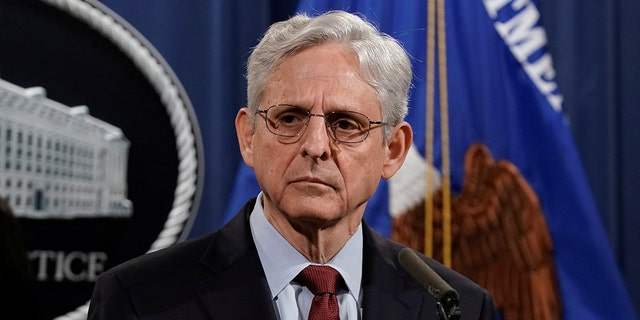 U.S. Attorney General Merrick Garland holds a news conference at the Department of Justice in Washington, D.C., U.S., June 25, 2021. REUTERS/Ken Cedeno