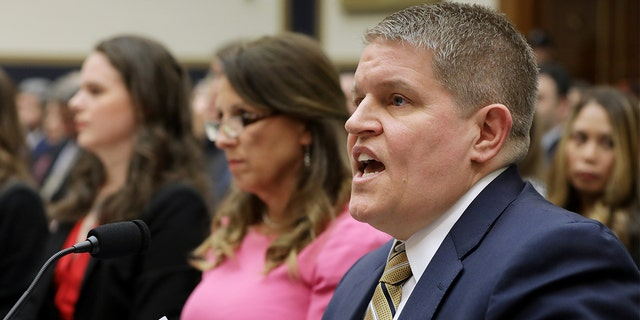 Former Bureau of Alcohol, Tobacco, Firearms and Explosives agent and Giffiords Law Center senior policy advisor David Chipman (R) testifies before U.S. House Judiciary Committee during a hearing on assault weapons in the Rayburn House Office Building on Capitol Hill September 25, 2019 in Washington, D.C. Chipman was President Biden's second major nominee to fail in the Senate after the White House withdrew his name as its pick to lead the ATF. (Photo by Chip Somodevilla/Getty Images)