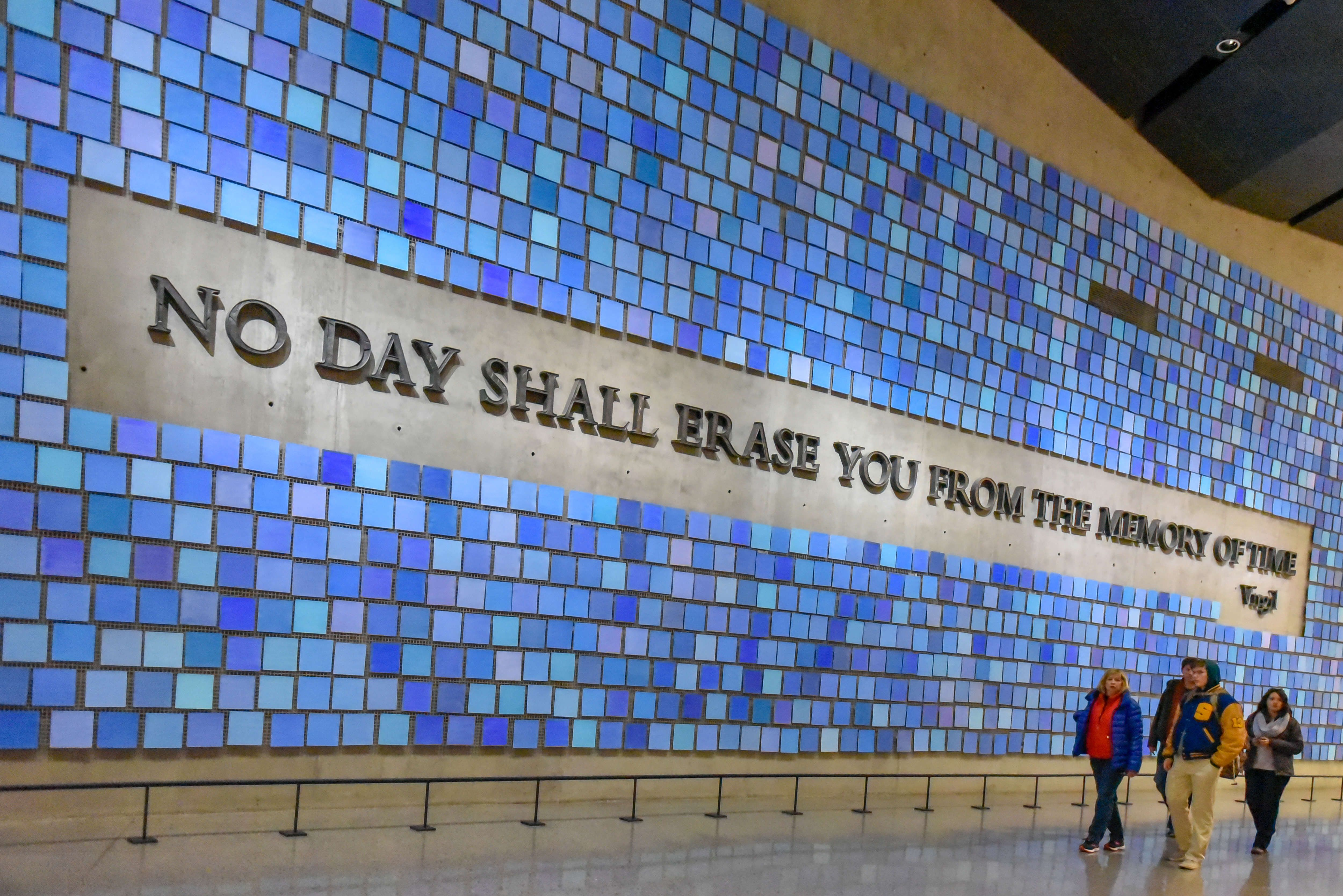 Inside of the National September 11 Memorial and Museum.