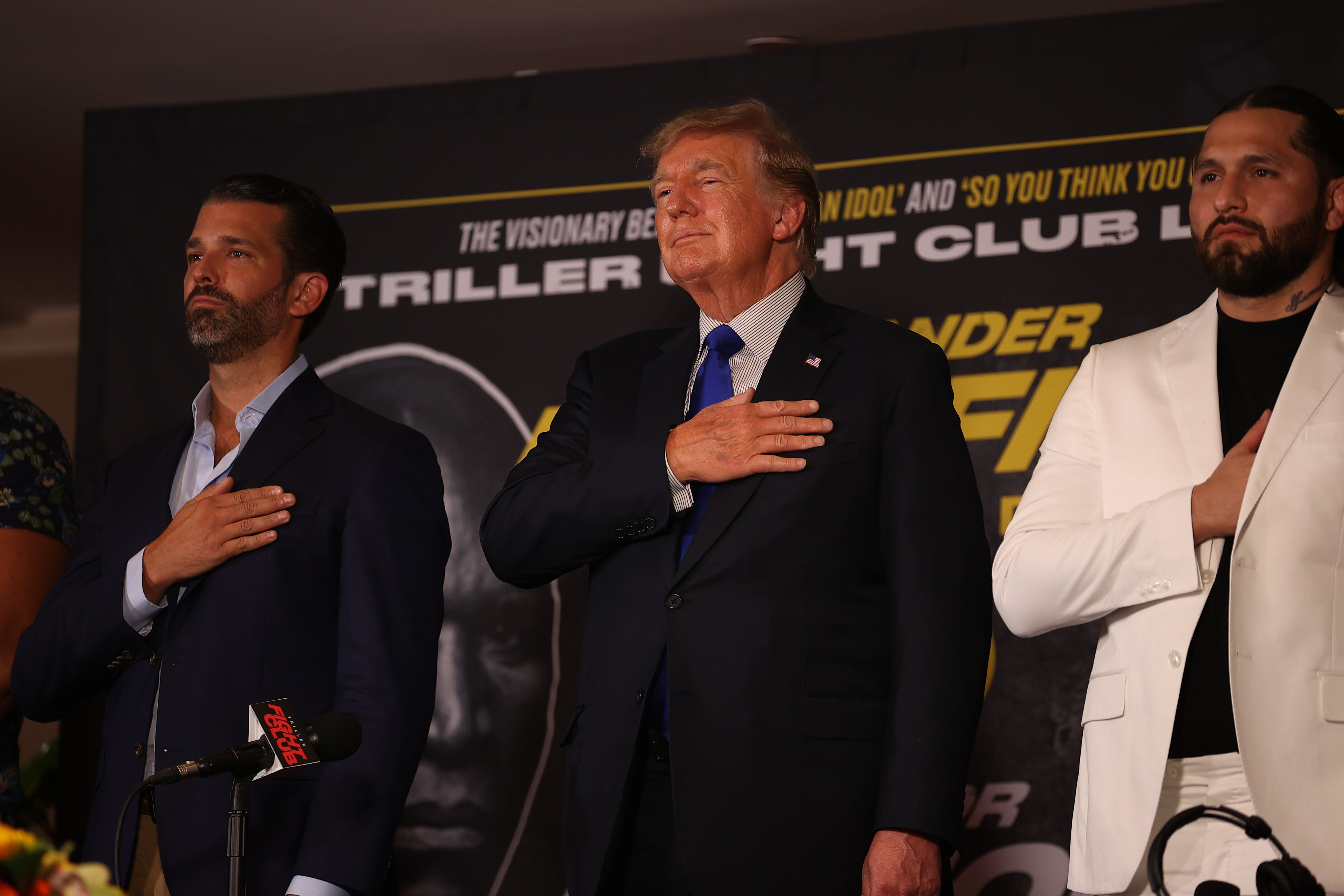 Donald Trump and Donald Trump, Jr., chimed in with analysis for boxing matches in Florida.
