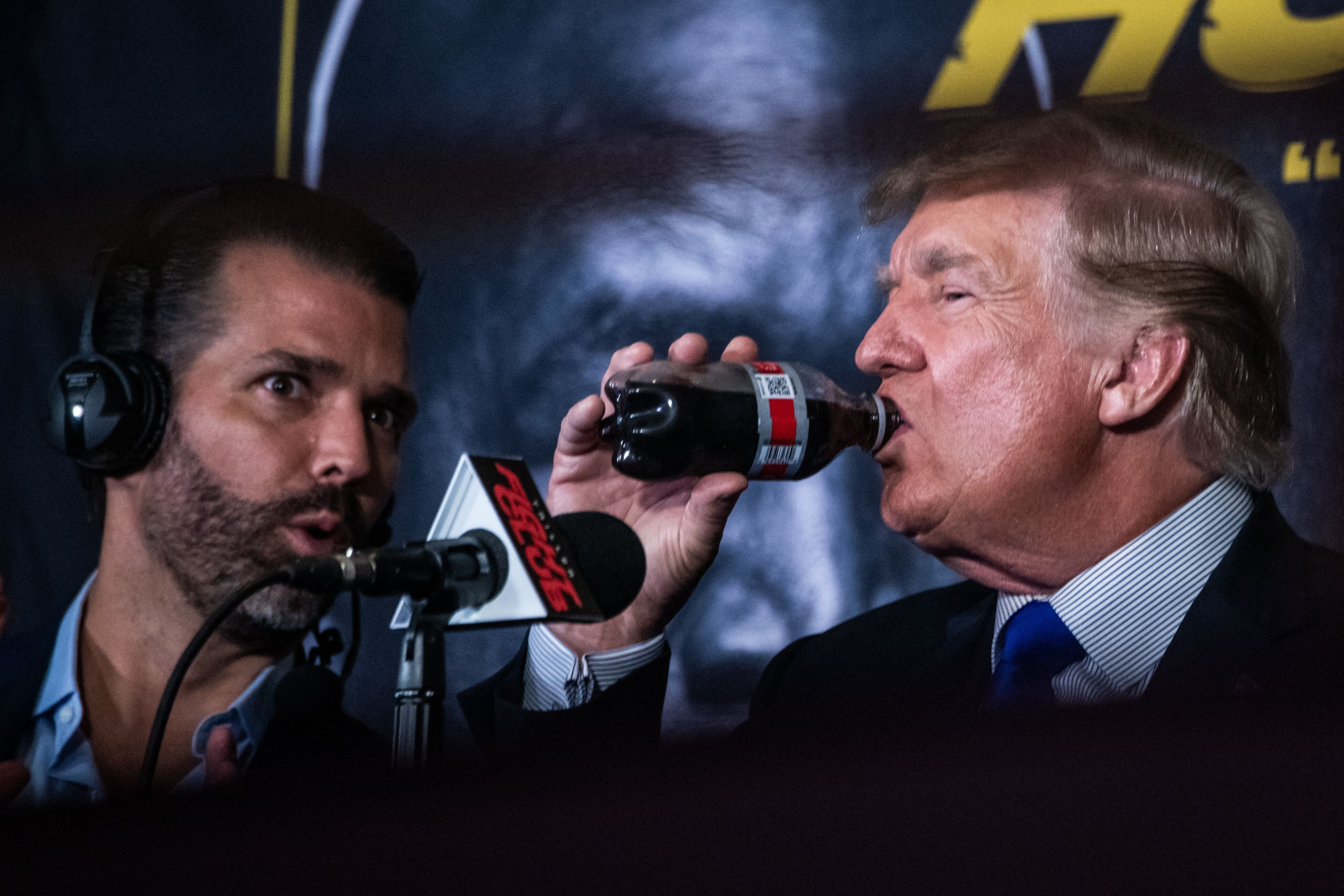Donald Trump and Donald Trump Jr. moonlighted as boxing analysts.