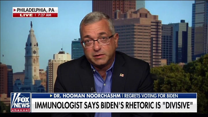 Top immunologist regrets voting for Biden after vaccine mandate: 'It's totally unacceptable'