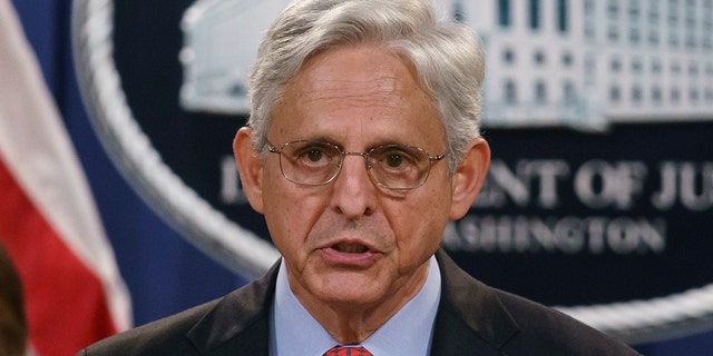 Attorney General Merrick Garland announces a lawsuit to block the enforcement of a new Texas law that bans most abortions, at the Justice Department in Washington, Thursday, Sept. 9, 2021. (AP Photo/J. Scott Applewhite)