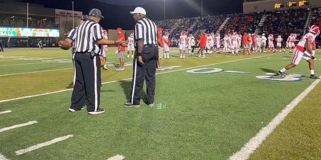 Las Vegas schools are facing a referee shortage. A typical high school football season would have around 300 officials, but this year, they have 177. (Ashley Soriano/Fox News)