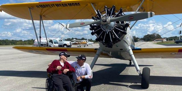 Bob Cwiak taking flight for his birthday on Sept. 15, 2021 in Arkansas.