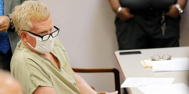 Alex Murdaugh sits during his bond hearing Thursday, Sept. 16, 2021, in Varnville, South Carolina.