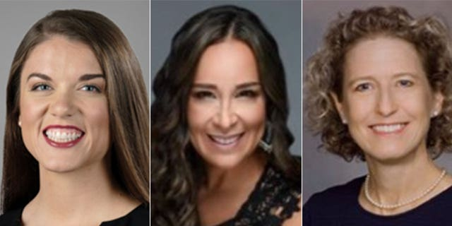 From left to right: Esther Joy King, Monica De La Cruz-Hernandez and Jen Kiggans, candidates who have been endorsed by the Republican PAC Winning for Women.